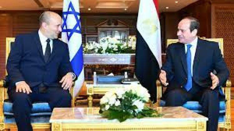 رئيس الوزراء الإسرائيلي بينيت يلتقي بالرئيس المصري السيسي