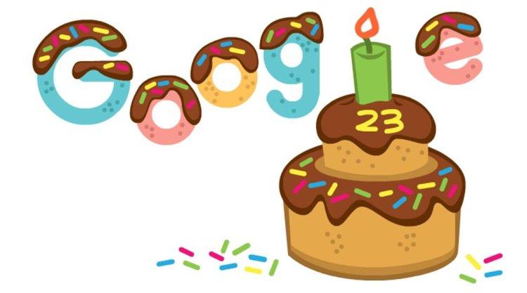 جوجل تحتفل بعيد ميلادها الثالث والعشرين باستخدام رسومات الشعار